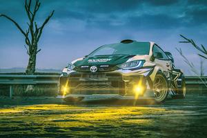 Rallycross Toyota Yaris 5k Wallpaper