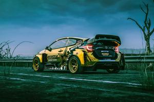 Rallycross Toyota Yaris Rear 5k Wallpaper