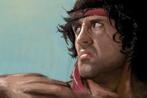 Rambo Sylvester Stallone Artwork 4k Wallpaper