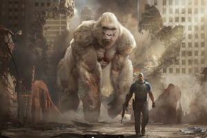 Rampage Movie Art