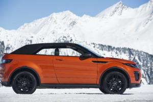 Range Rover Convertible In Snow Mountains