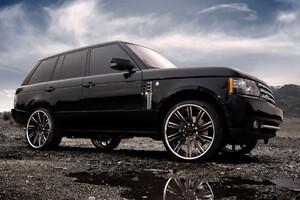 Range Rover Tuned Wheels Black Wallpaper