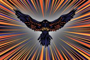 Raven Coin Logo Wallpaper