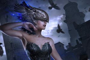 Raven Queen 4k Wallpaper