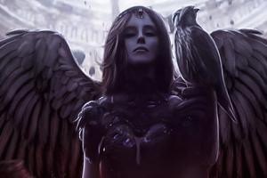 Raven Queen Girl 4k Wallpaper