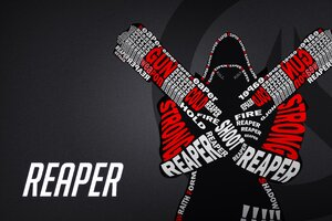 Reaper Typography Overwatch Wallpaper