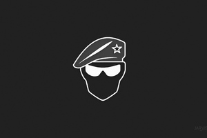 Recruit Minimalist Logo 4k