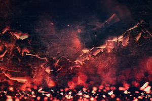 Red Abstract Fire Texture 5k Wallpaper