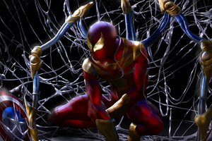 Red And Gold Spiderman