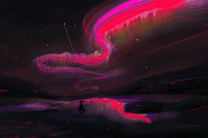 Red Aurora Wallpaper