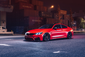 Red Bmw M4