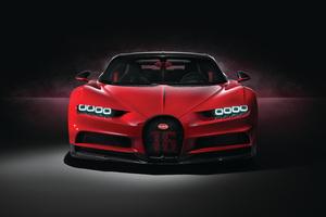 Red Bugatti Chiron Sport 2018 4k