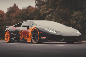 Red Bull Lamborghini Huracan 4k 2020 Wallpaper