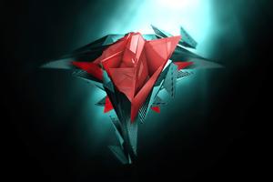 Red Cgi 3d Geometry 4k