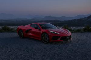Red Chevrolet Corvette 4k 2021