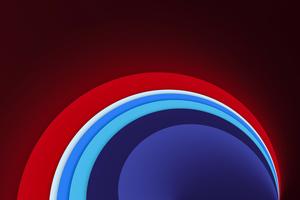 Red Circle Sun Shape Abstract 8k Wallpaper