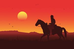 Red Dead Redemption 2 Illustration 5k