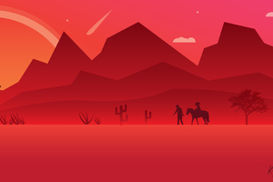 Red Dead Redemption 2 Minimalist Art