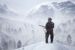 Red Dead Redemption 2 The Bounty Hunter 4k Wallpaper