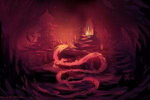 Red Digital Dragon
