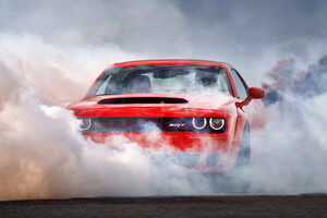 Red Dodge Challenger Wallpaper
