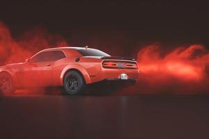 Red Dodge Challenger Demon SRT Rear