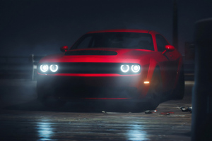 Red Dodge Challenger Srt 4k Wallpaper