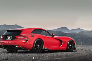 Red Dodge Viper GT Wallpaper