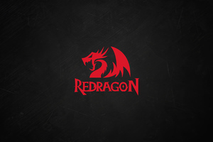Red Dragon Minimal Logo 4k