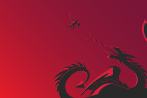 Red Dragon Vs Warrior Wallpaper
