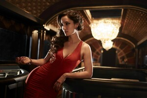 Red Dress Girl In Bar