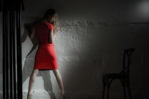 Red Dress Model Wallpaper