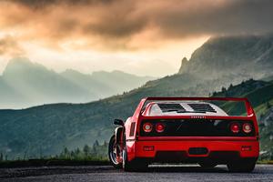 Red Ferrari F40 Wallpaper