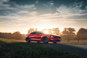 Red Ford Mustang 2021 4k