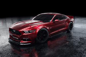 Red Ford Mustang 4k