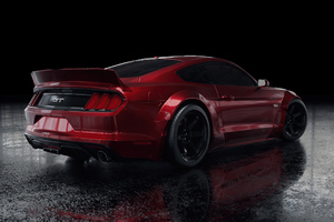 Red Ford Mustang Rear