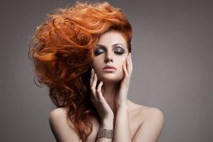 Red Hair Girl 4k Wallpaper