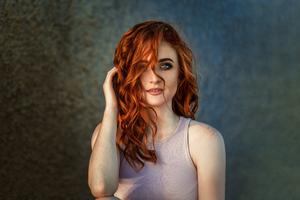 Red Head Beautiful Girl 4k