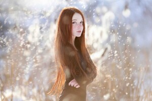 Red Head Long Hair Girl Wallpaper
