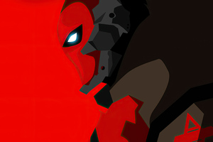 Red Hood 2020 Minimalism 4k