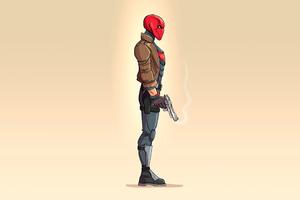 Red Hood 4k Minimalism 2020