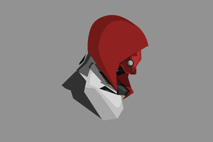 Red Hood 4k Minimalism Wallpaper