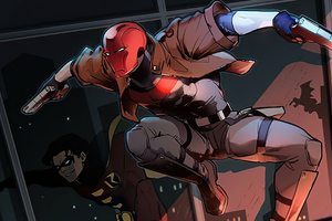 Red Hood And Robin Cleaning The Crime In City Wallpaper