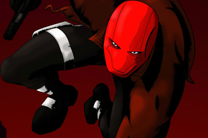 Red Hood Art 4k