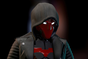 Red Hood Glowing Eyes 4k Wallpaper