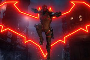 Red Hood Gotham Knights Logo 4k Wallpaper
