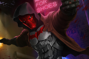 Red Hood Guns Up Wallpaper
