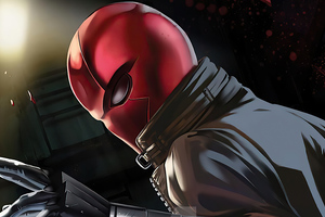 Red Hood Mask Man Wallpaper
