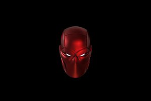 Red Hood Mask Minimal 5k Wallpaper