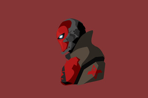 Red Hood Minimalism Wallpaper
